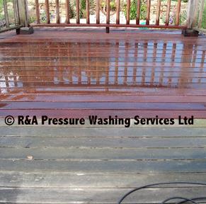 decking pressure washing London Berkshire