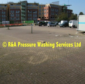 car park pressure washing