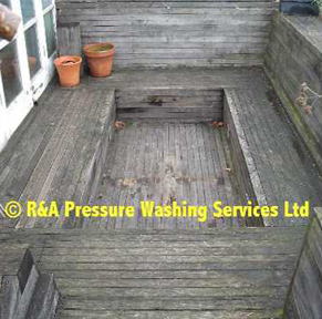decking pressure washing London