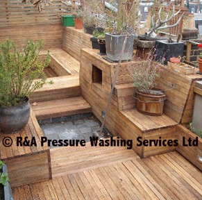wooden decking cleaning London