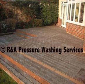pressure wash decking