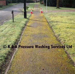 pathway pressure washing