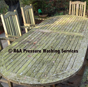 pressure wash garden furniture