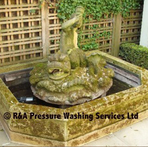 water feature cleaning