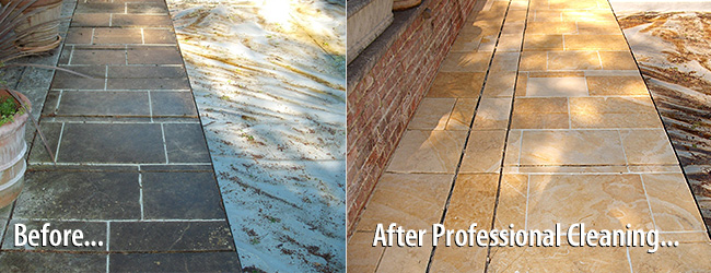 Jerusalem Limestone Cleaning Before After